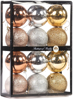 Набор шаров новогодних Goodwill TR 27057 (12шт, золото/серебристый) -