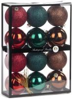 Набор шаров новогодних Goodwill TR 24794 (12шт, красный/зеленый/бургунди) -