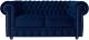 Диван Brioli Честер Классик двухместный (B69/синий) -
