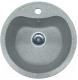 Мойка кухонная AlfaSun Рашмор / ALF435C (чистое серебро) -