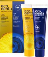 Набор для ухода за полостью рта Ecodenta Зубная паста Pineapple Mornings+Зубная паста Bilberry Nights (100мл+100мл) -