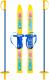 Комплект беговых лыж Цикл Олимпик-спорт Мишки с палками -