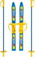 Комплект беговых лыж Цикл Олимпик-Спорт Снегири с палками -