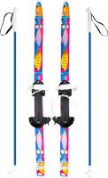 Комплект беговых лыж Цикл Быстрики Коты с палками -