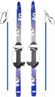 Комплект беговых лыж Цикл Быстрики Пингвины с палками / 4366-00 -