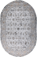 Ковер Milat Leda C804A-GRAY-D-GRAY-OVAL (0.8x1.5) -
