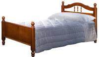 Односпальная кровать Минскмебель Глория-6 90x200 / Л.157.07.01 (49 вишня) -