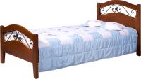 Полуторная кровать Минскмебель Глория-9 140x200 / Л.164.08 (49 вишня) -