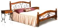 Двуспальная кровать Минскмебель Глория-8 160x200 / Л.158.07.01 (49 вишня) -