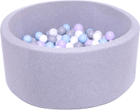 Игровой сухой бассейн Babymix S/L-MG-MM-B-S (200 шариков) -