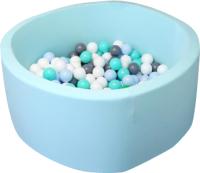 Игровой сухой бассейн Babymix 3М / M/B-S-M-MG (200 шариков) -
