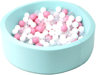Игровой сухой бассейн Babymix 4М / M/B-P-MR (200 шариков) -