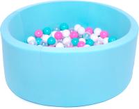 Игровой сухой бассейн Babymix 6М / M/B-P-Y-M (200 шариков) -