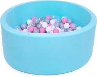 Игровой сухой бассейн Babymix 9М / M/B-P-SS-MR (200 шариков) -