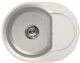 Мойка кухонная Elleci Easy Round 600 Bianco Titano G68 / LGYR6068 -