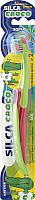 Зубная щетка Silca Med Croco детская мягкая от 2 до 10 лет -