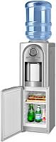 Кулер для воды Ecotronic V21-LCE со шкафчиком (серебристый) -