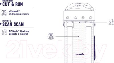 Рюкзак Pacsafe Dry 15L Travelsafe Backpack / 21100104 (серый)