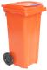 Контейнер для мусора Plastik Gogic 120л (оранжевый) -