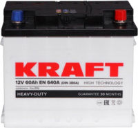 Автомобильный аккумулятор KrafT R 60 (60 A/ч) -