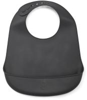 Нагрудник детский Happy Baby Силиконовый / 16006 (черный) -