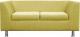 Диван Brioli Дедрик двухместный (J9/желтый) -