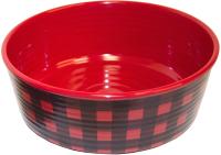 Миска для животных Tarhong Check / PE20775477 (красный) -