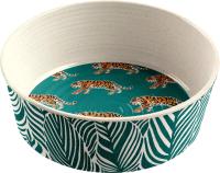 Миска для животных Tarhong Safari Tiger / PE20773275 (бежевый/зеленый) -