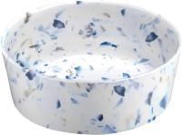Миска для животных Tarhong Terrazzo / PTD3060WBTF (белый/синий) -