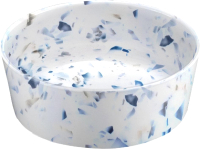 Миска для животных Tarhong Terrazzo / PTD5071WBTF (белый/синий) -