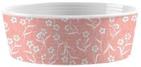 Миска для животных Tarhong Flower Fields / PDR5067PBFP (белый/розовый с рисунком) -