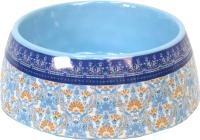 Миска для животных Tarhong Flower Fields / PVA3063PBFCM (голубой с рисунком) -