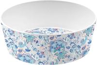 Миска для животных Tarhong Flower Fields / PTD5071WBCF (голубой с рисунком) -