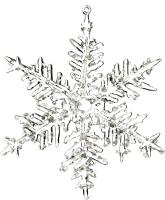 Елочная игрушка Goodwill Снежинка 1 / A 59712-1 (прозрачный) -