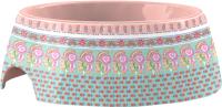 Миска для животных Tarhong Flower Fields / PVA3053PBFSS (розовый/голубой с рисунком) -