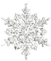 Елочная игрушка Goodwill Снежинка 2 / A 59712-2 (прозрачный) -
