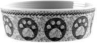 Миска для животных Tarhong Granite Paw / PDR5067PBMG (серый) -