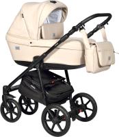 Детская универсальная коляска INDIGO Broco Eco 2 в 1 (Be 02, бежевая кожа) -