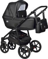 Детская универсальная коляска INDIGO Broco Eco 2 в 1 (Be 03, черная кожа) -
