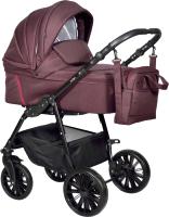 Детская универсальная коляска INDIGO Sesto 2 в 1 (Se 07, баклажан) -