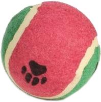 Игрушка для животных Beeztees Мячик теннисный с отпечатками лап / 625597 (большой) -