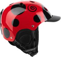 Шлем горнолыжный Luckyboo Play (S, черный/красный) -