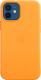 Чехол-накладка Apple Leather Case With MagSafe для iPhone 12/12Pro / MHKC3 (California Poppy) -