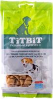 Лакомство для собак TiTBiT Хрустящие подушечки с кроликом и творогом для щенков / 12796 (95г) -