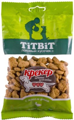 Лакомство для собак, 5 шт. TiTBiT Крекер с мясом утки / 13830