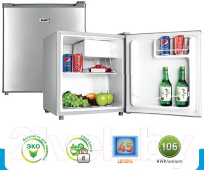 Холодильник с морозильником BBK RF-049 (серебристый)