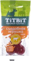 Лакомство для собак TiTBiT Mini. Съедобная игрушка косточка с телятиной / 14400 -