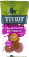 Лакомство для собак TiTBiT Standart. Съедобная игрушка косточка с ягнененком / 14431 -