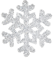 Елочная игрушка Goodwill Снежинка 1 / PL 52332-1 (белый) -