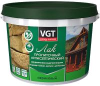 Лак VGT Пропиточный с антисептиком (9кг, белый) -